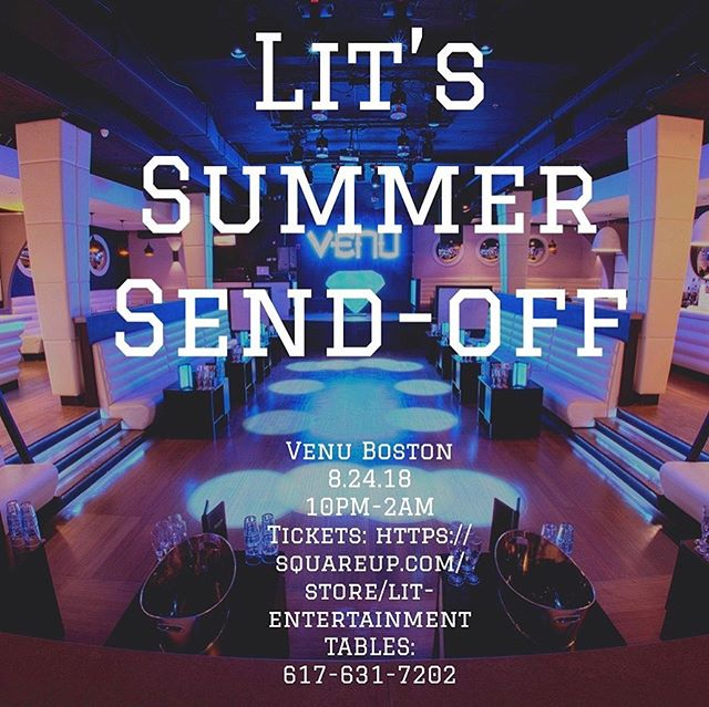 Less than 1 week away till The Final Summer Send Off! Join us the 24th at the Venu in Boston and party with @DJrambo. Tickets are selling fast! Get yours before the prices increase. Link in bio . . . . #boston #weekendvibes #bottles #bottleservice #living #party #iconnightclub #bottleparade #vip #housemusic #futurehouse #electro #hiphop #electronicmusic #openformat #rap #dancemusic #ravegirls #nightclub #vodka #vodkashots