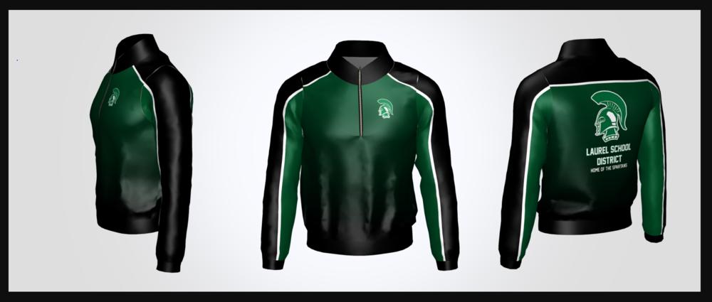 Laurel School District 1/4 Zip Jacket