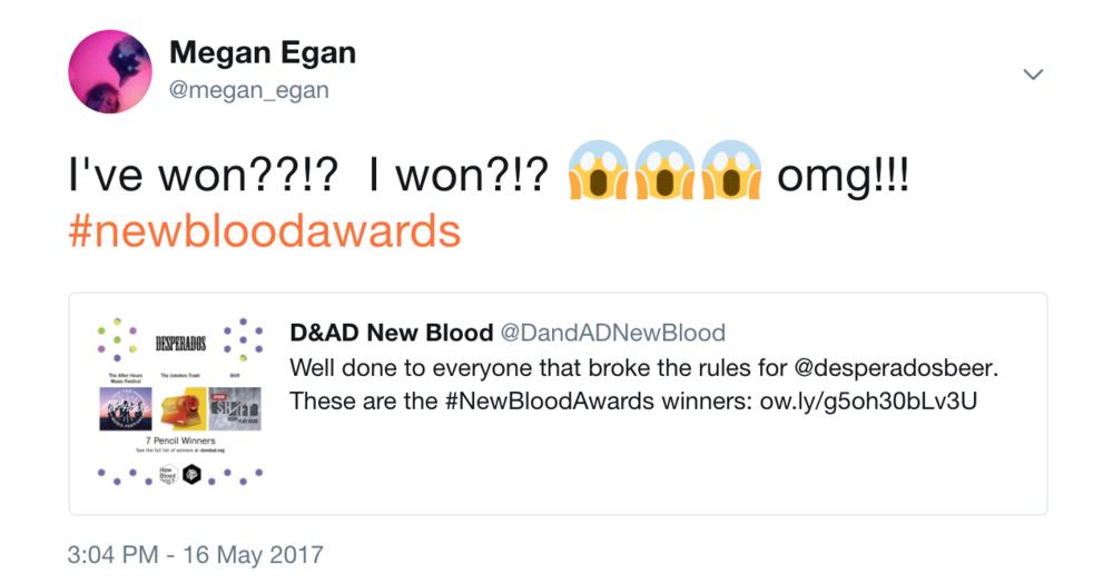 16th May 2017 - I've won a D&AD New Blood Pencil! EEK!