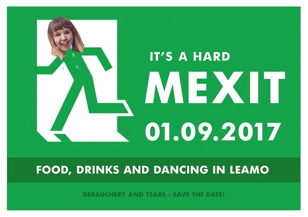 I had to share my leaving do invite as well, which I personally thought was hi-larious.