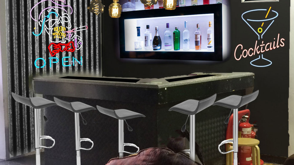 Last but by no means least - the cocktail bar!
