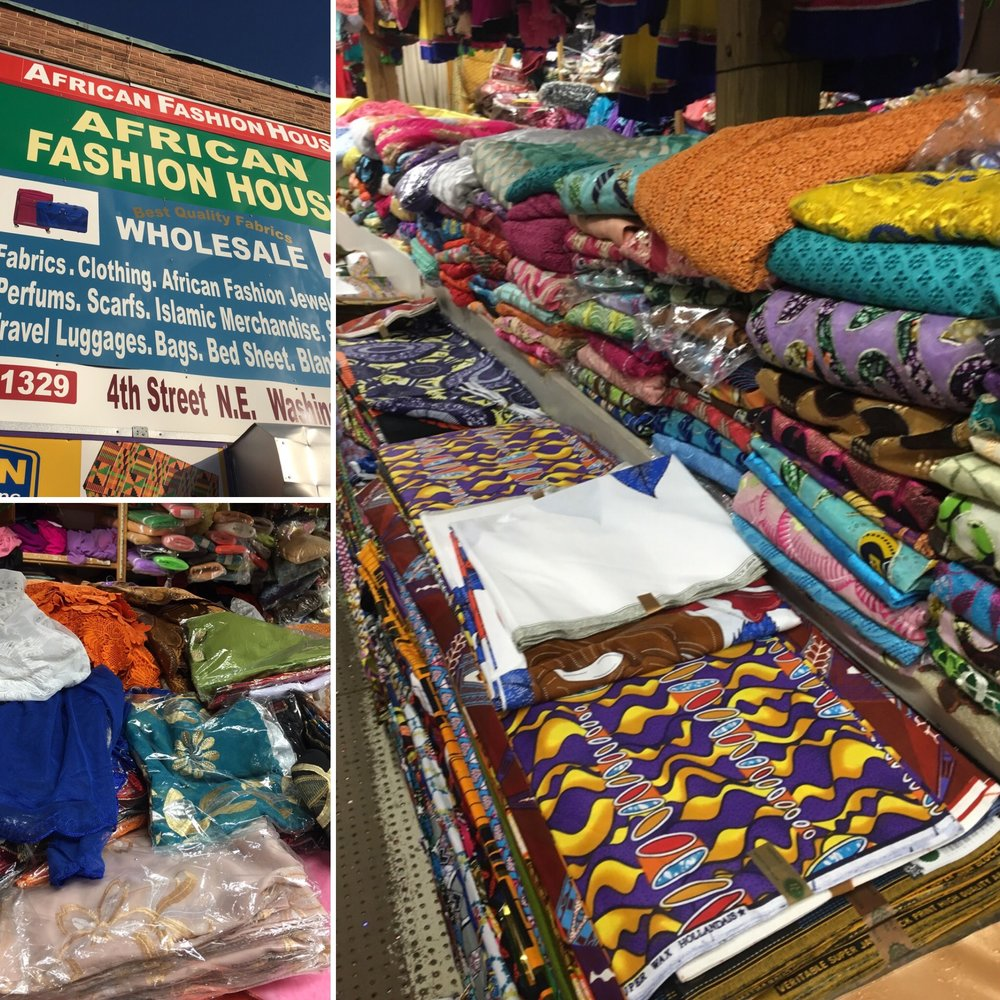 African Fashion House - 1329 4th Street N.E, Washington, DCTruth be told, it was hard to find anything here.  The store was lacking organization. The sell ready to wear clothing, luggage, purses, etc along with the fabrics.  They did have a great collection of laces starting at $65 for 5 yards.  Their Ankara fabric was $15 for 6 yards which was a great price.