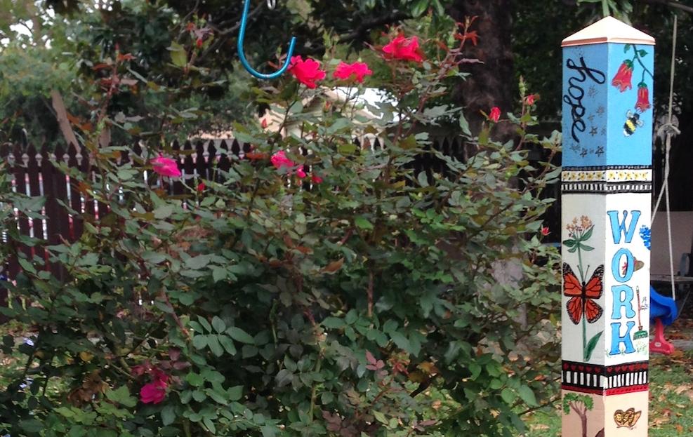Garden peace poles -