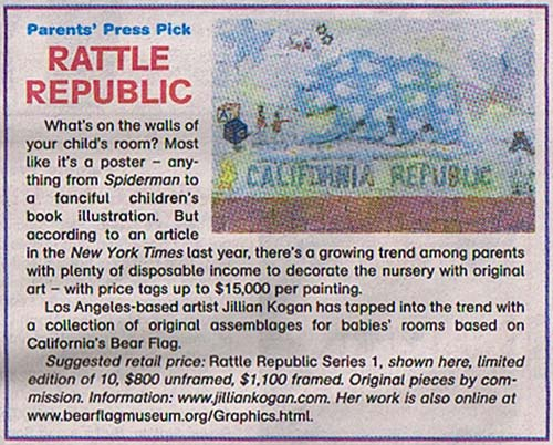 Rattle Republic, Parent's Press  November 2007