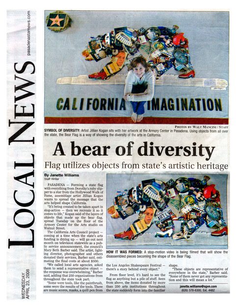 A Bear of Diversity   By Janette Williams,    Pasadena Star Press  April 23, 2008
