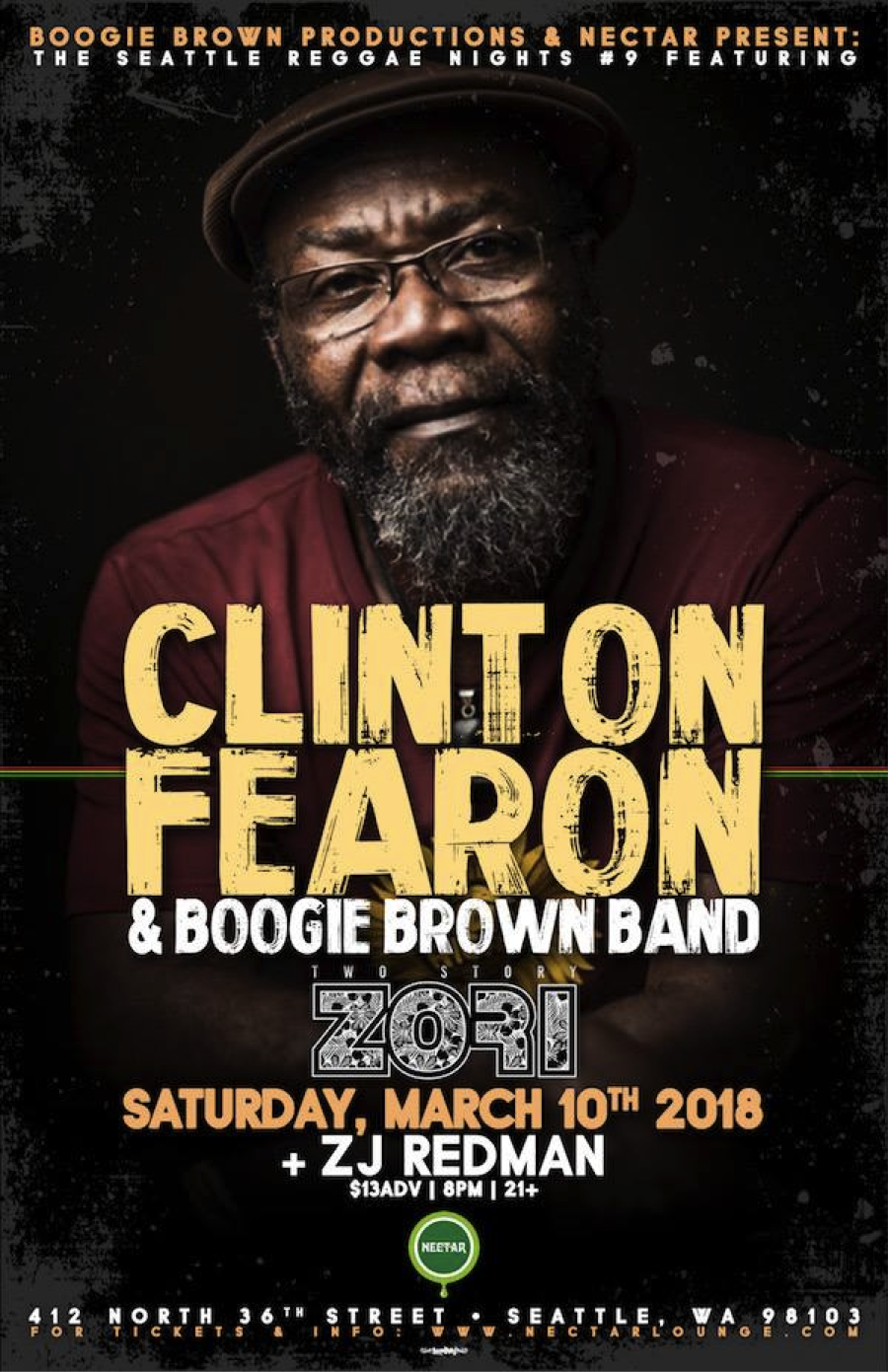 Clinton Fearon & Boogie Brown Band at Nectar Lounge