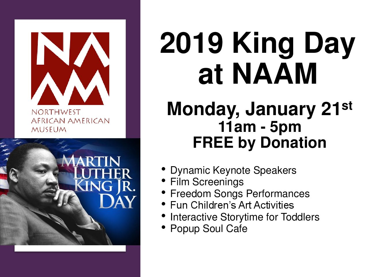 2019 King Day At Naam Seattle Scene