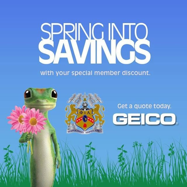 Spring into action and take advantage of your Phiota member discount on auto insurance with GEICO? You could save even more on their already low rates. Plus, you will be giving back to Phi Iota Alpha. when you complete your quote! #MemberDiscount #SomosPhiotas