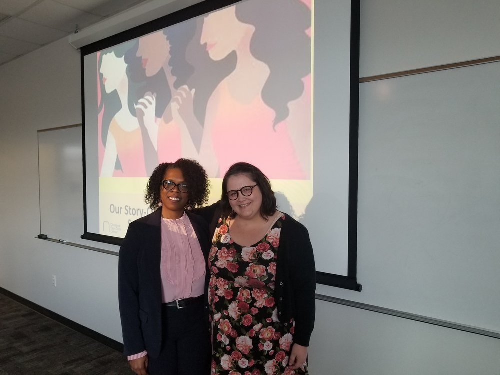 Teresa Stafford, Senior Director of Victim Services and Outreach at Cleveland Rape Crisis Center, and Mara Haight, Executive Director of the Rape Recovery Center at the Utah Sexual Violence Conference.