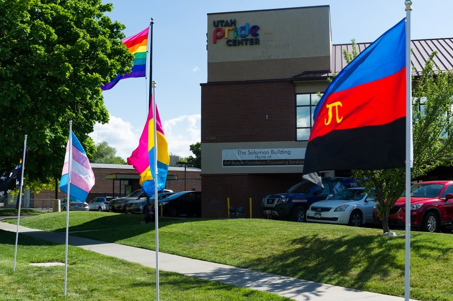 The Utah Pride Center's new building, located at 1380 Main Street in Salt Lake City.