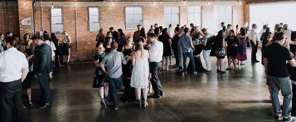 Guests socializing at the 2018 Hope and Healing Gala.