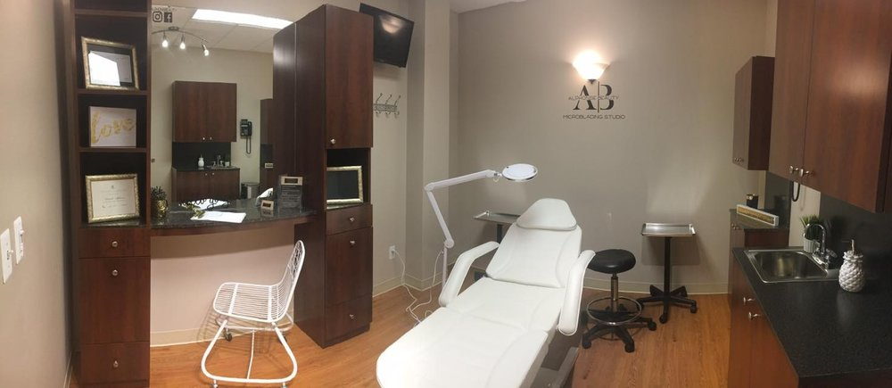 Inside view of Alphonse Beauty Microblading Studio in Shelby Township, Michigan