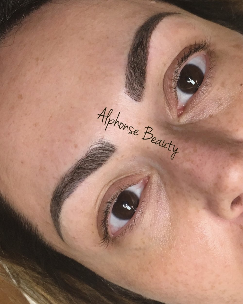 Full Eyebrows from Microblading Procedure at Alphonse Beauty