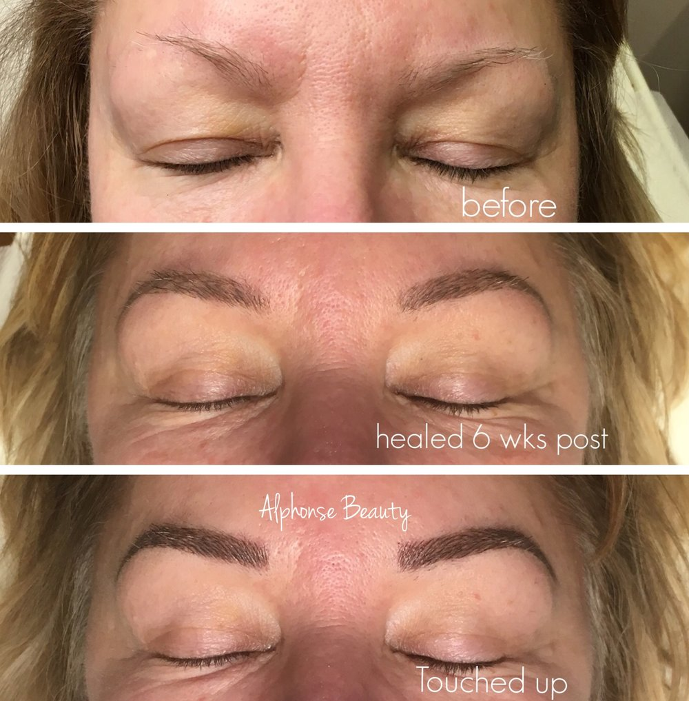 Eyebrow Microblading Stages After Touch Up