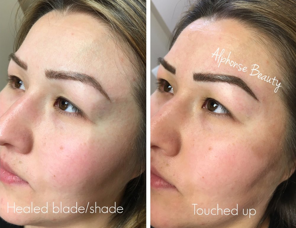 Eyebrow Microblading with Shading Healed Result