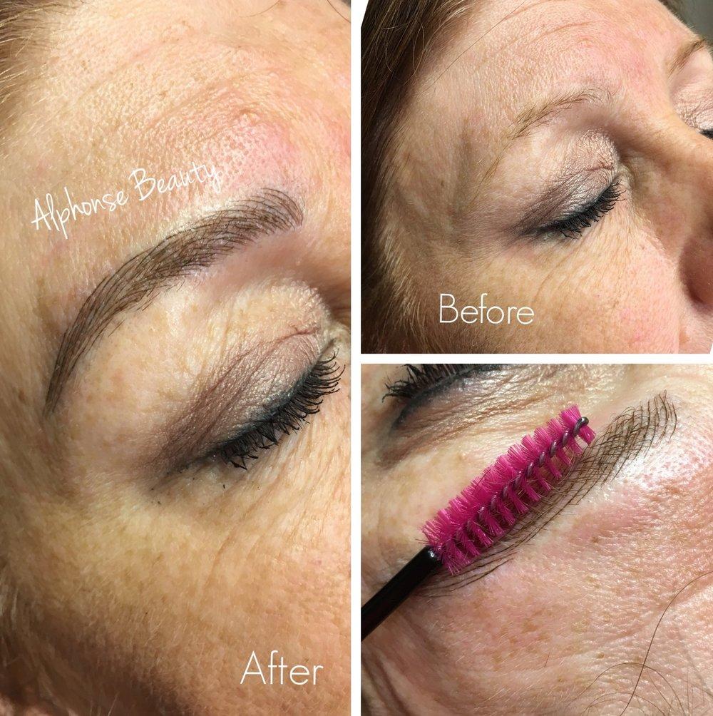 Permanent Makeup Eyebrow Microblading Result