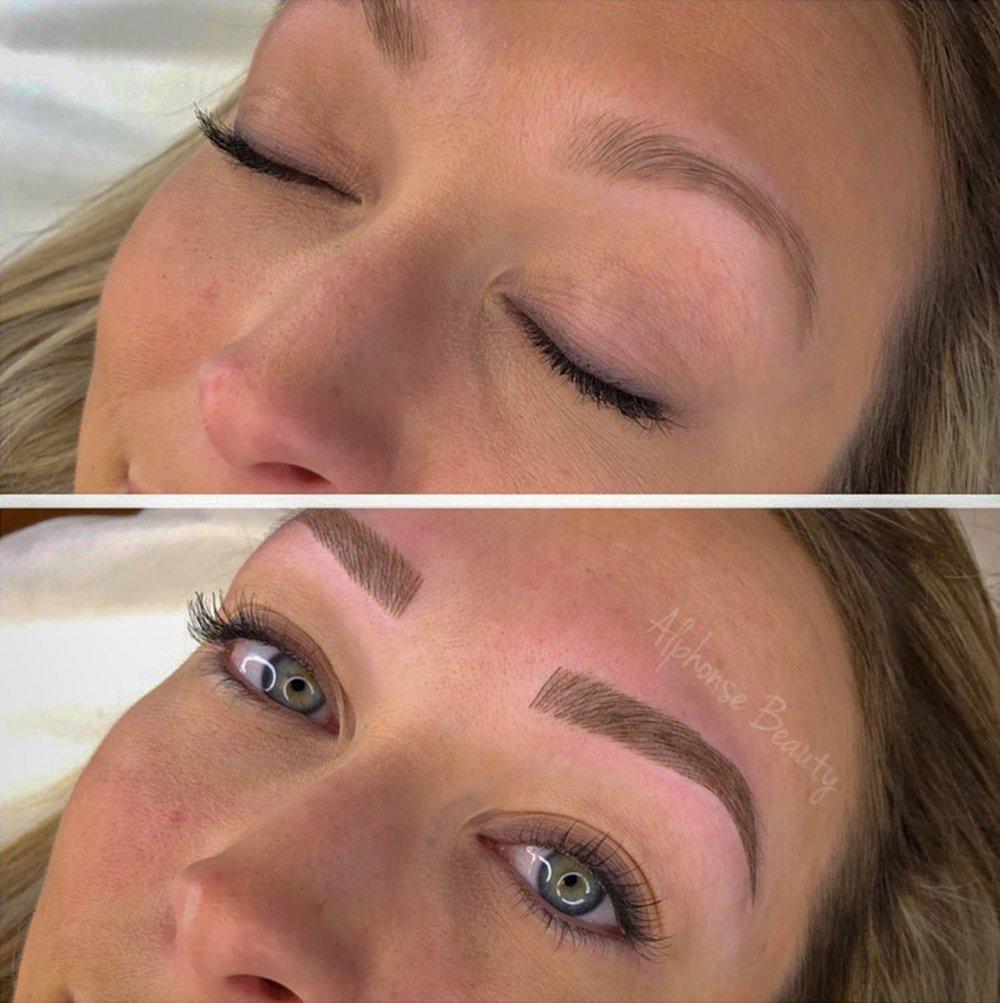 Microblading eyebrows - perfect strokes