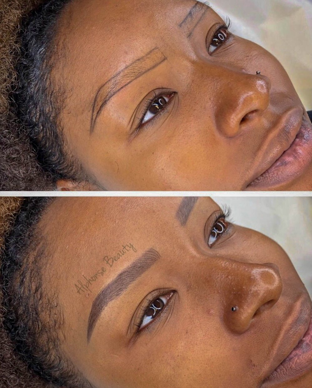 Eyebrow shape and color is customized for every client!