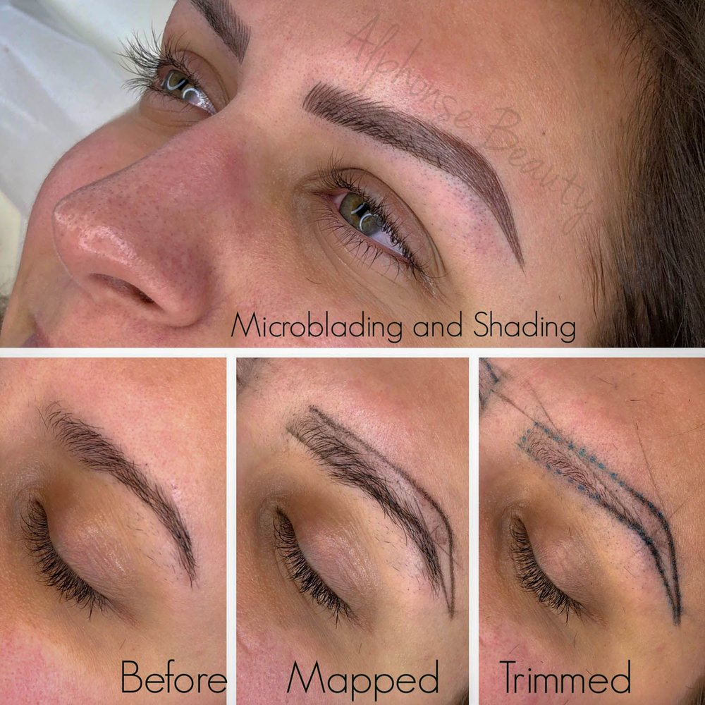 Permanent makeup procedure stages