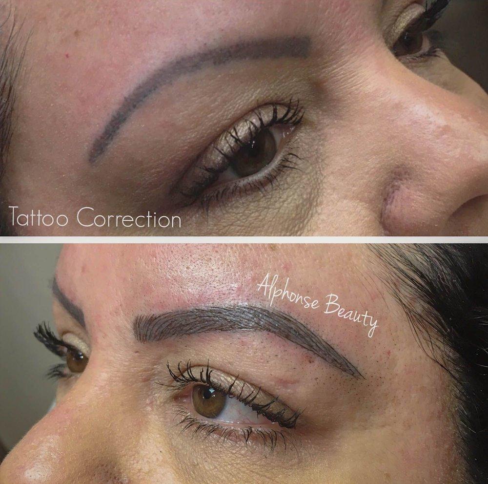 Eyebrow Tattoo Correction using Microblading