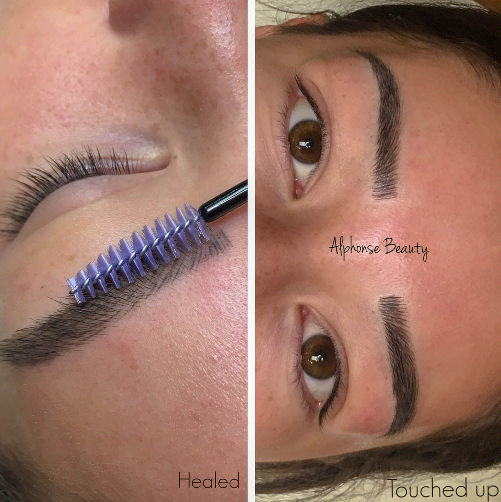 Eyebrow Microblading Results after Touch Up - Alphonse Beauty