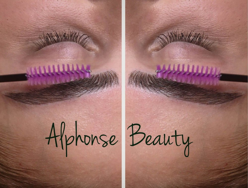 Close up results of eyebrow microblading at Alphonse Beauty