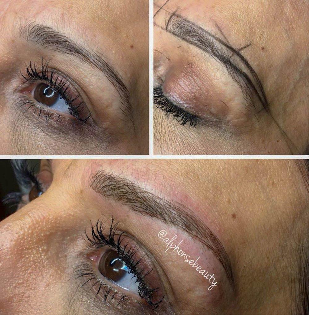 Permanent Eyebrow Microblading - Alphonse Beauty Michigan