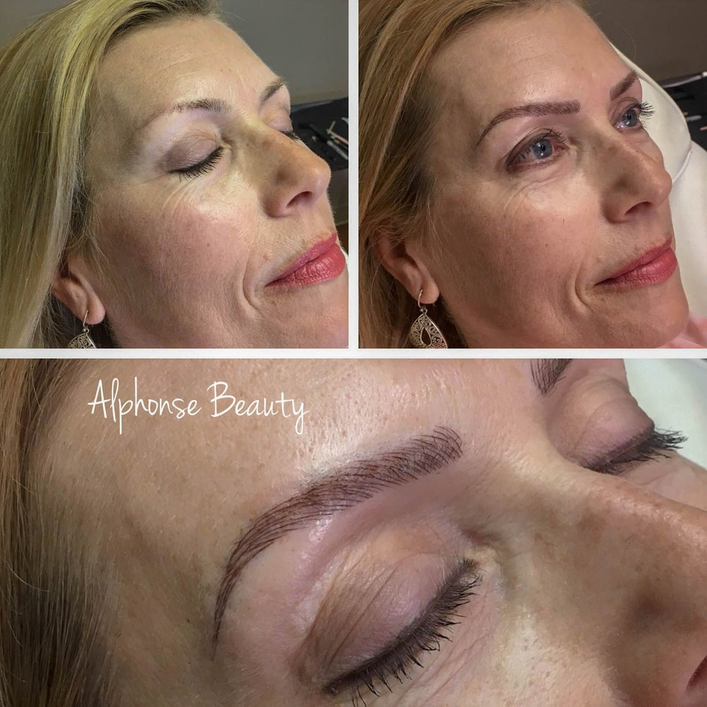 Permanent makeup for eyebrows
