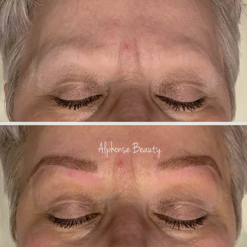 Microblade Eyebrows Before & After