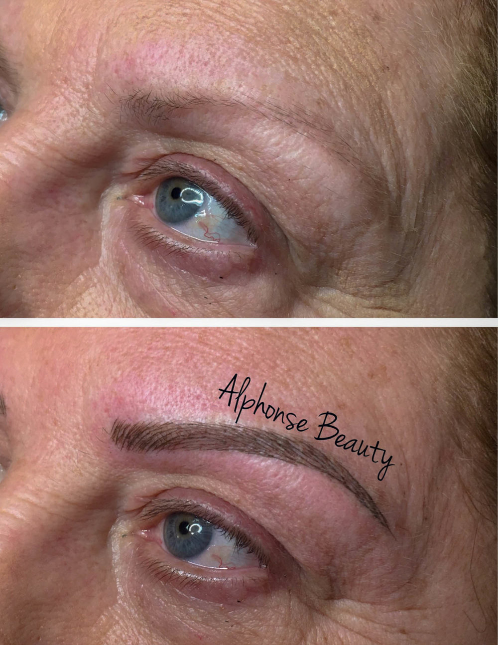 Eyebrow Microblading results to show method to achieve full thick eyebrows