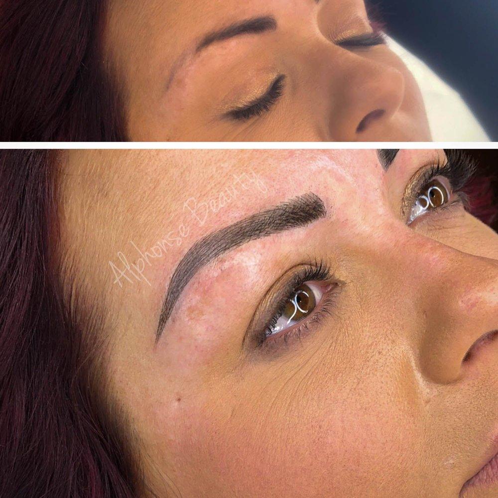 Bold eyebrows cosmetic tattoo results Michigan