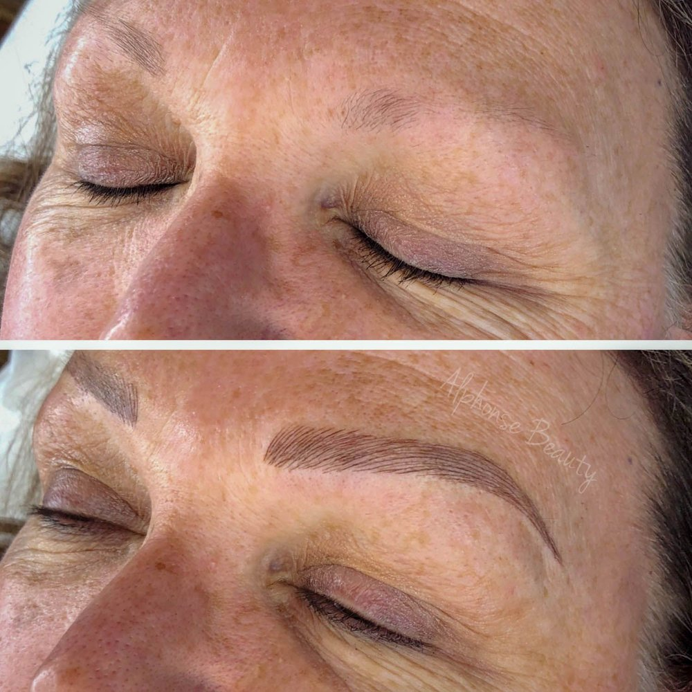 Perfect eyebrows from Microblading procedure