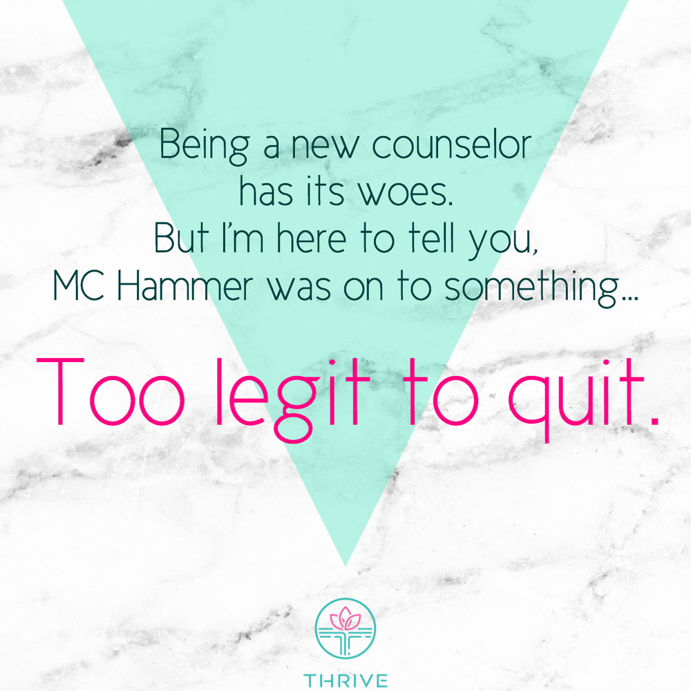 Y'all, MC Hammer was a self-affirmation genius. Remember, you are too legit to quit (hey... hey...)!