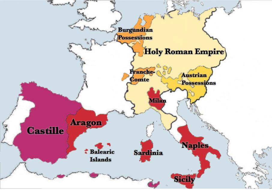 Charles V's domain, 1525