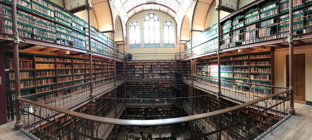 Rijksmuseum's library. During the German invasion, they hid everything in here.