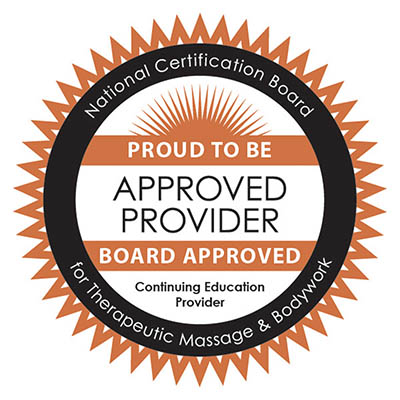 The Healing Arts and Massage School, LLC is approved by the National Certification Board for Therapeutic Massage and Bodywork (NCBTMB) as a continuing education Approved Provider. Provider Number 331623-00.