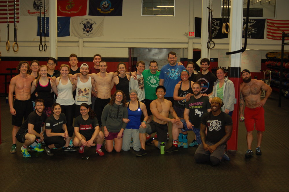 CrossFit Pittsburgh and Panther CrossFit after Games Open WOD 17.5