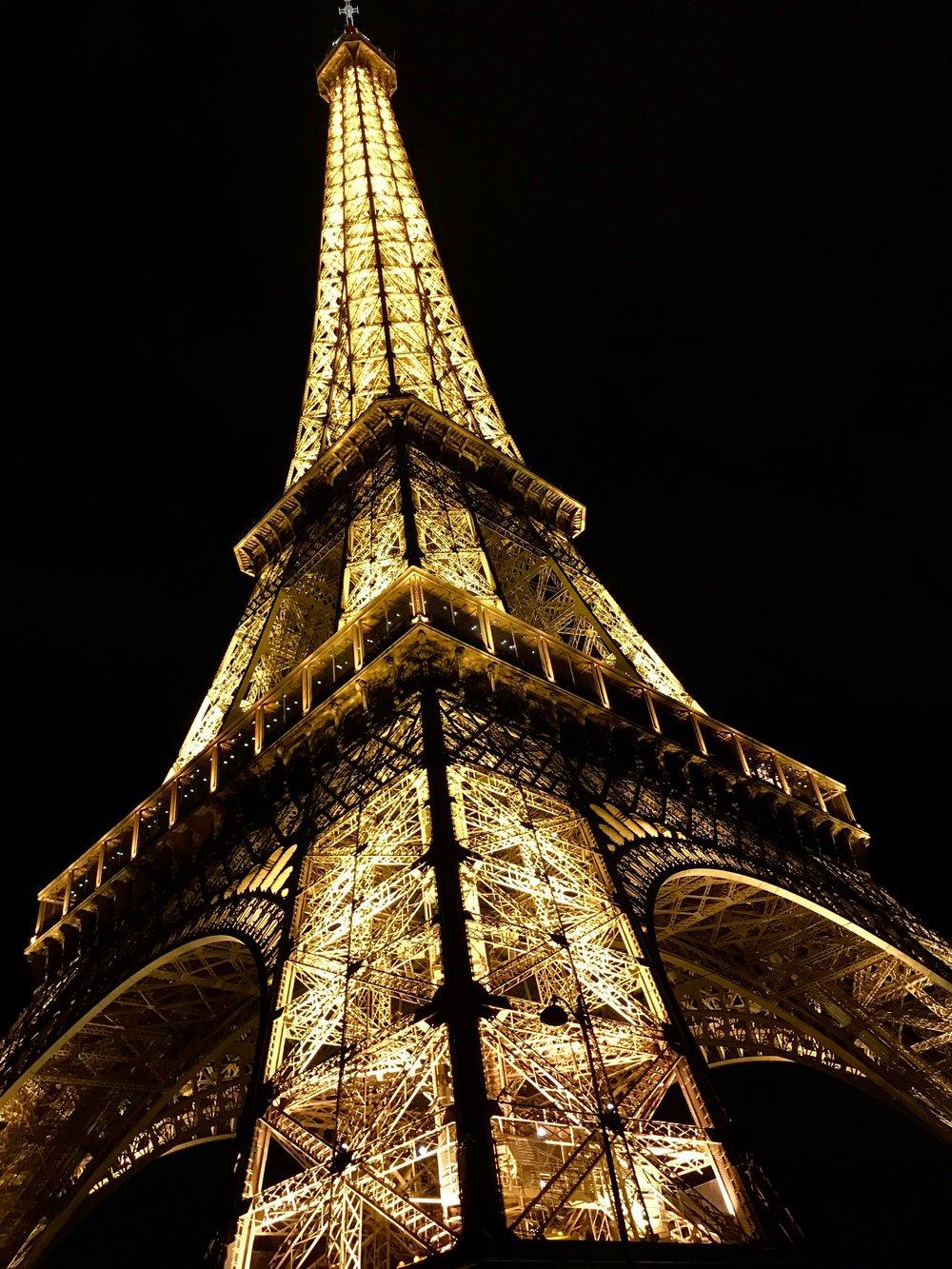 Eiffel Tower, photo taken September 2017.