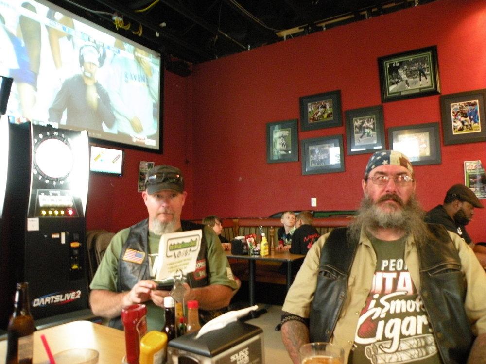Veterans eating