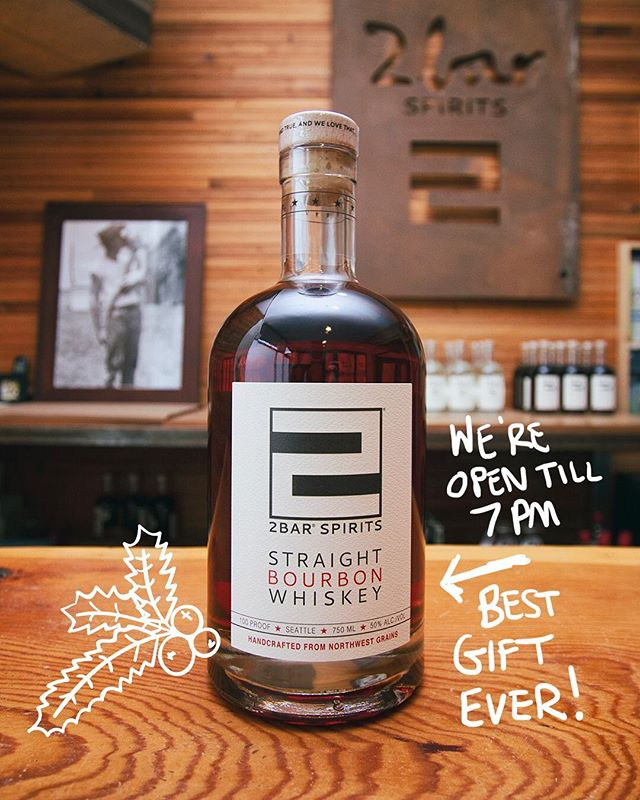 Holiday Spirits!🌲🎄🌲🌲 Open till 7pm tonight! _ #craftwhiskey #2barspirits #holidayspirits