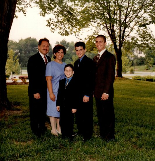 Dustin's Family - (Father and Mother- Ronald and Emily, Brothers – Bradley, Zachary)