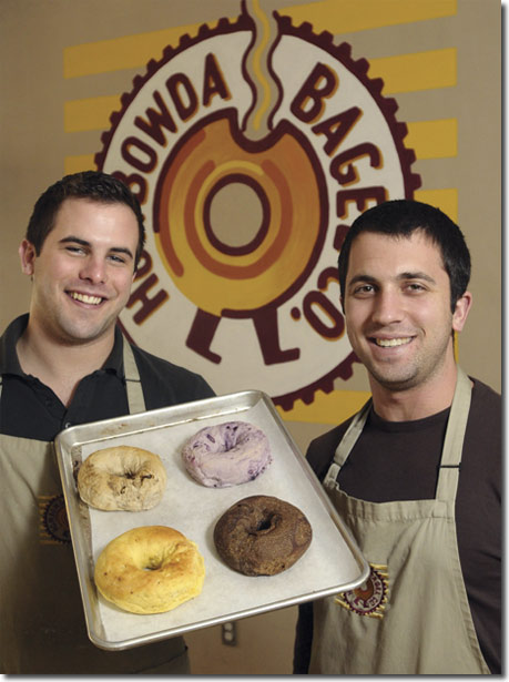 (Dustin and his business partner open Howbowda Bagel)