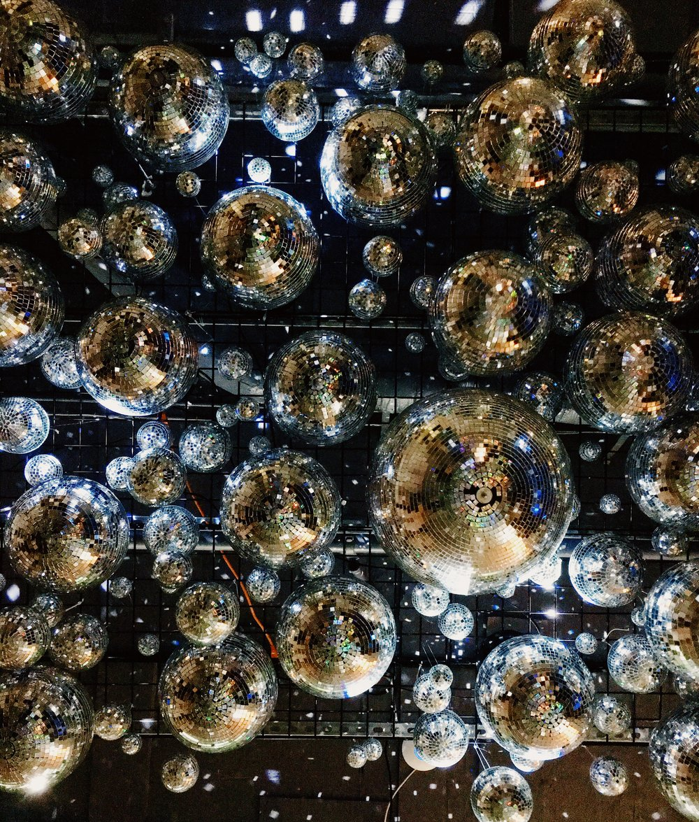 All the round disco balls