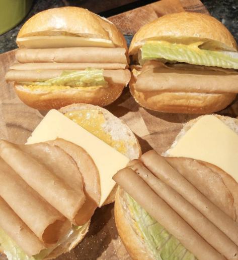tofurky sandwiches