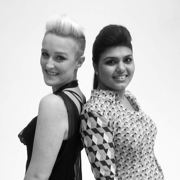 Bethany Meuleners and Sabah Mansoor Husain of Mansoor Scott Headshots at FiSF Fashion Incubator San Francisco