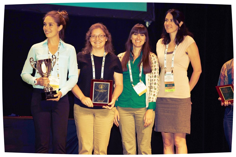 Pictured (L-R): Sophia Webster, Jennifer Baltzegar, Nicole Gutzmann, Johanna Elsensohn