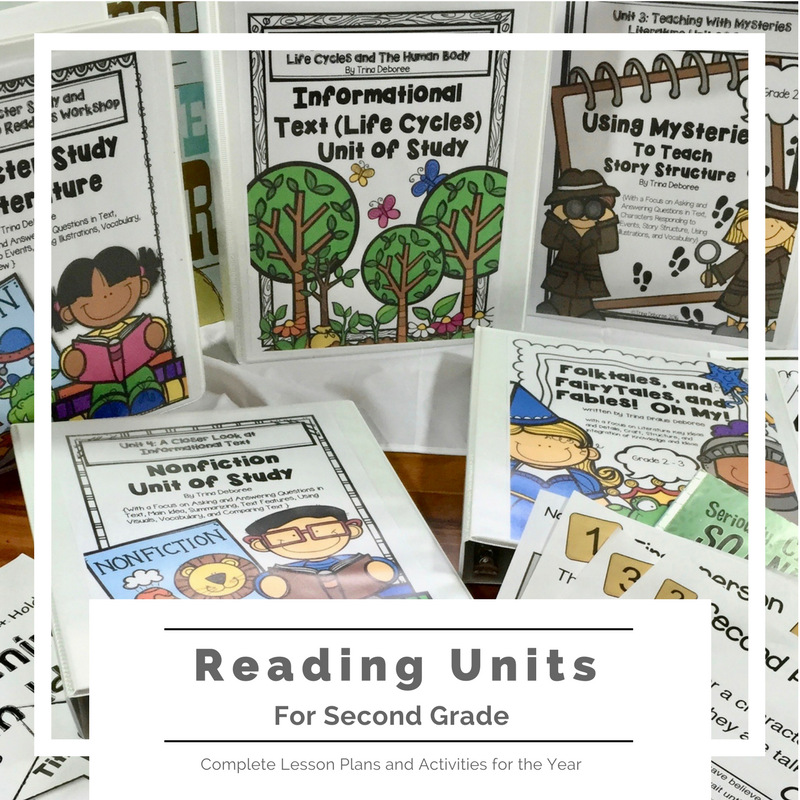Reading units for second grade. Complete lesson plans, anchor charts, student activities, graphic organizers, essential questions, and assessments for Reading Workshop in the second-grade classroom.  -