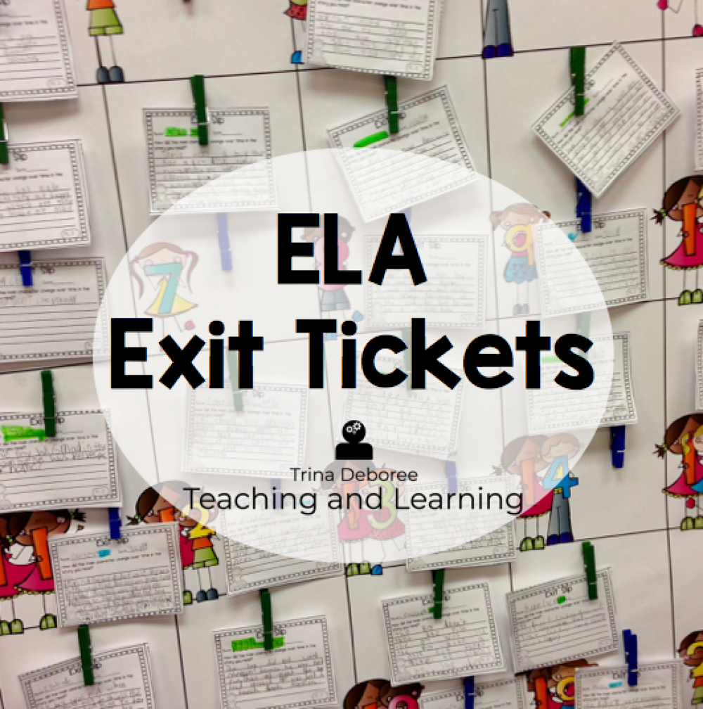 ELA Exit Tickets for Second Grade