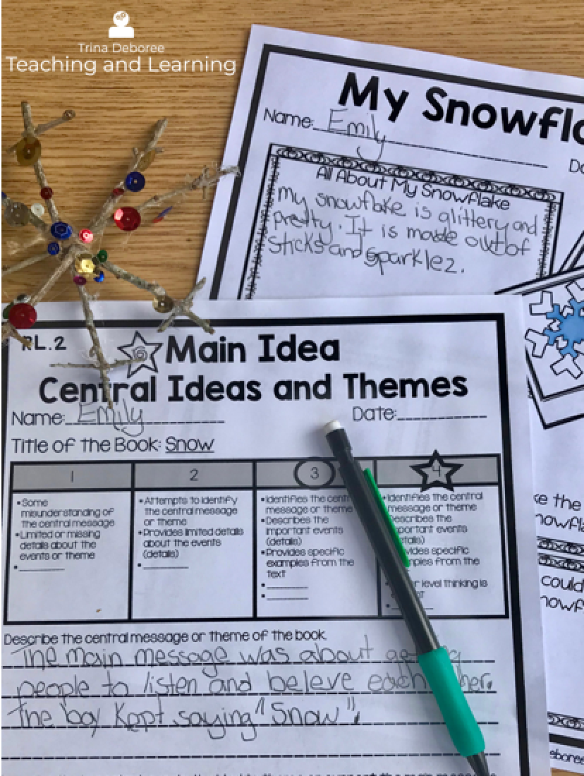 MakerSpace Moments in Literature Snowflake