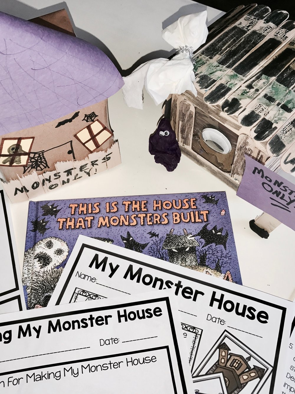 Makerspace Moments in Literature: Halloween {House That Monster Built}